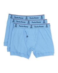 Psycho Bunny Vintage Tagless Boxer Briefs Three Pack Light Blue
