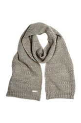 Bench Smoked Pearl Marled Knit Scarf Gray