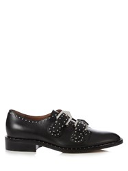 Givenchy Stud Embellished Leather Loafers Black