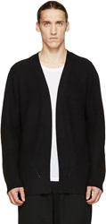 Public School Black Merino Knit Cardigan