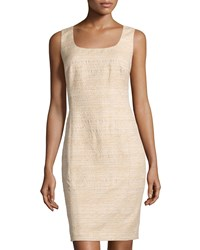 Lafayette 148 New York Carol Scoop Neck Shimmer Dress Soy