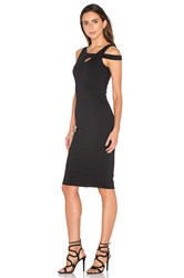 Donna Mizani Cold Shoulder Midi Dress Black