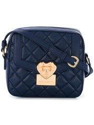 Love Moschino Quilted Crossbody Bag Blue