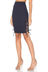 Rachel Pally Lace Up Skirt Navy