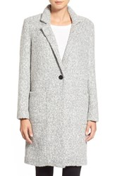 Women's Zac Zac Posen 'Giselle' One Button Reefer Coat Lunar Rock