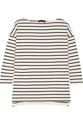Hatch The Bateau Striped Cotton Top Ivory
