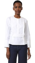 Carven Long Sleeve Blouse White