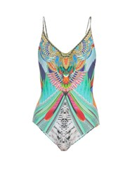 Camilla Soaring Embellished Swimsuit Blue Multi