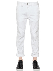 Cycle 17Cm Stretch Cotton Canvas Pants White