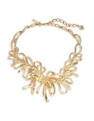 Oscar De La Renta Goldtone Bow Statement Necklace