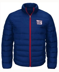 G3 Sports Men's New York Giants Skybox Packable Quilted Jacket Blue