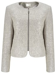 Jacques Vert Sequin Knit Jacket Mid Grey