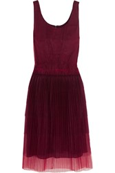 Burberry Tiered Tulle Dress Purple