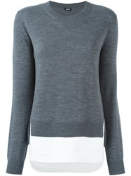 Jil Sander Navy Crew Neck Jumper Grey