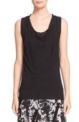 Women's Fuzzi Cowl Neck Sleeveless Blouse