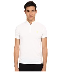 The Kooples Shiny Pique Polo White Men's Short Sleeve Pullover