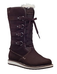Helly Hansen Hedda Faux Fur Lined Suede Boots Brown