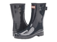 Hunter Original Refined Short Gloss Navy Women's Rain Boots