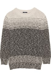 Theory Rainee Marled Cotton Blend Sweater Black