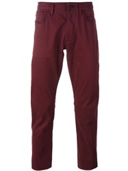 Armani Jeans Classic Chinos Red