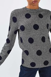 Boutique Polka Lurex Knit By Silver