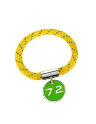 Marc By Marc Jacobs Yellow Nylon And Silvertone Brass 72 Location Bangle