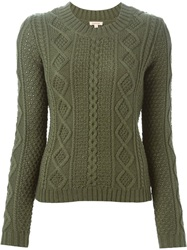 P.A.R.O.S.H. Cable Knit Sweater Green