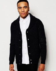 New Look Knitted Cardigan With Shawl Collar Navy