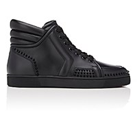 Christian Louboutin Men's Sporty Dude Low Flat Sneakers Black Blue Black Blue