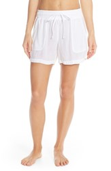 Women's Hard Tail Slouchy Shorts White