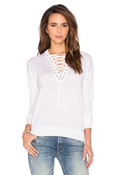 The Kooples Lace Up Top White
