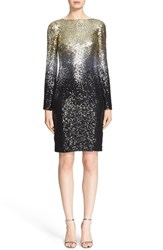Pamella Roland Women's Ombre Sequin Chiffon Sheath Dress