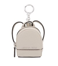 Michael Michael Kors Rhea Leather Backpack Key Charm Female Cement
