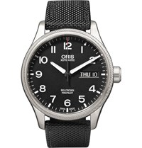 Oris Big Crown Propilot Day Date Stainless Steel And Canvas Watch Black