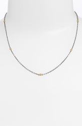 Lagos Caviartm Station Two Tone Necklace Silver Gold