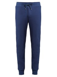 Frescobol Carioca Cotton Blend Jersey Trousers Navy