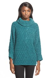 Chelsea 28 Women's Chelsea28 Fluffy Turtleneck Sweater Green Ponderosa