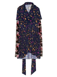 Vetements Multi Floral Print Long Sleeved Dress