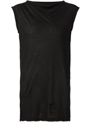 Rick Owens Drkshdw Slash Neck T Shirt Black