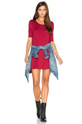 Free People Jacqueline Tunic Red