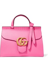 Gucci Gg Marmont Small Textured Leather Tote Pink