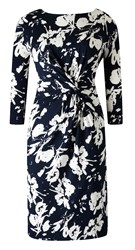 Grace Made In Britain Twist Knot Dress Navy