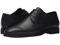 The Kooples Smooth Leather Shoes Black Men's Dress Flat Shoes