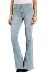 Petite Women's Paige Denim 'Bell Canyon' High Rise Flare Jeans Samira