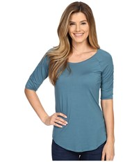 Columbia Lumianation Elbow Sleeve Shirt Cloudburst Women's Short Sleeve Pullover Gray