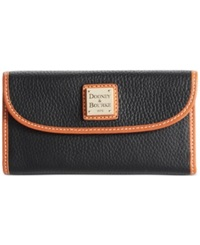 Dooney And Bourke Pebble Continental Clutch Black