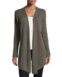 Minnie Rose Cashmere Open Front Duster Cardigan Canteen