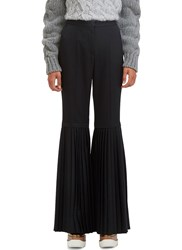 Stella Mccartney Chellini Semi Pleated Suiting Pants Black
