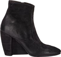 Marsell Women's Suede Wedge Heel Boots Black Size 5.5