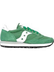 Saucony Panelled Sneakers Green